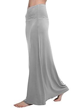 Urban GoCo Mujeres Falda Larga para Yoga Danza Casual Alta Cintura Bodycon Elástico Falda Maxi