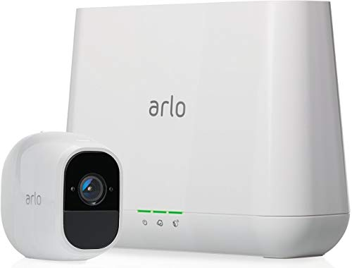 Arlo Pro 2 Smart Home 1 HD-Überwachungskamera & Sicherheitssystem (Funktioniert mit Alexa, 130 Grad Blickwinkel, kabellos, WLAN, Indoor/Outdoor, Nachtsicht, wetterfest, 2-Wege Audio) weiß, VMS4130P -