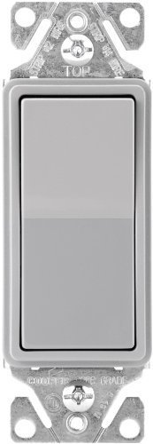 Cooper Wiring Devices 7501GY-SP-L 15-Amp, 120-Volt Standard Grade Single Pole Decorator Switch, Gray by Cooper Wiring (Cooper Wiring Single)