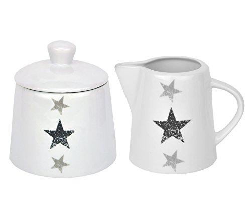 Kaffeeergänzungsset Milchkännchen 23cl & Zuckerdose 28cl Stars