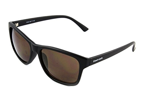 Fastrack UV Protected Wayfarer Men's Sunglasses - (P357BK4|41|Black Color)