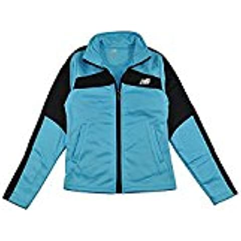 New Balance Little Girls Zip Up Fleece Lined Track Jacket (4