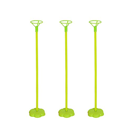 Stand Kit, 3 Sticks 3 Tassen und 3 Bases Balloon Tisch Desktop Halter & Ballon Pole Quick Building Kit für Geburtstagsfeier, Hochzeit, Happy Birthday Dekorationen ()