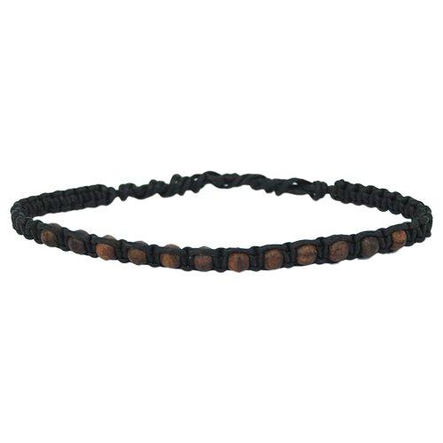 los-granos-de-madera-marrones-chic-net-pulsera-negro-encerado-handgefadelt-hilo-de-algodan-encerado-