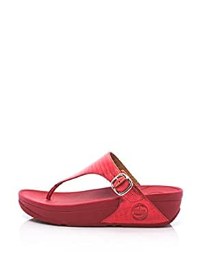 FitFlop The Skinny Red Womens Sandals Size 6.5 UK