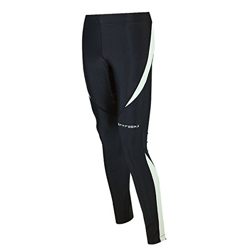 Airtracks Winter Funktions Laufhose Lang Pro / Damen oder Herren / Thermo Running Tight / Atmungsaktiv / Reflektoren - schwarz - XL - Damen