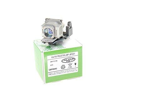 Alda PQ® Premium, Beamerlampe LMP-E211 für SONY VPL-EW130, VPL-EX100, VPL-EX120, VPL-EX123, VPL-EX145, VPL-EX146, VPL-EX148, VPL-EX175, VPL-EX178, VPL-SW125, VPL-SW125ED3L, VPL-SX125, VPL-SX125ED3L Projektoren, Lampe mit Gehäuse