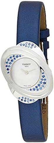 Tissot T-Trend Women's Mother of Pearl Dial Satin and Leather Band Watch - T0312