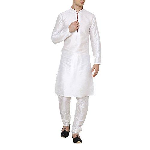 Royal Kurta Silk Blend Loop Button Kurta Pyjama Set For Men