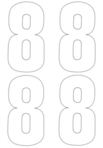 Numéro 4 x 8 Stickers pour poubelle à roulettes