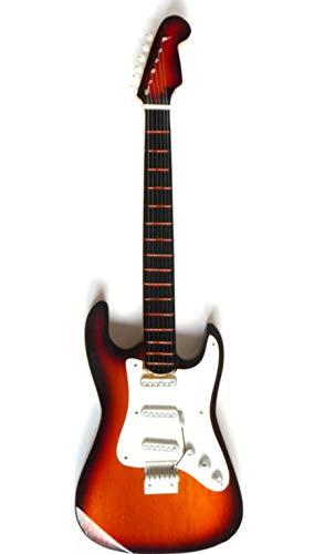 Guitarra en miniatura decorativa Guitarra Guitar Fender Stratocaster 24cm sunbrush # 168