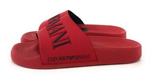 Emporio armani zadar uomo sandalo rosso