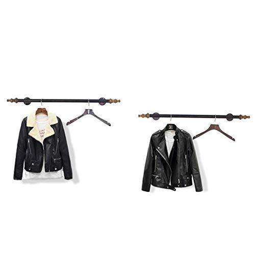 ts-Aufhänger, Wand-Aufhänger, hölzerne dunkle purpurrote Kleidungs-Zahnstangen/Ausstellungsstand- / Wand-Regal-Zahnstange, Wand-Tür-Rückseiten-Mantel-Zahnstange,100 cm ()