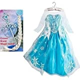 #3: Baby & BlossomsNEW ELSA SNOW PRINCESS FROZEN DRESS GIRLS COSTUME PARTY FANCY SNOW QUEEN(combo 7-9 years)