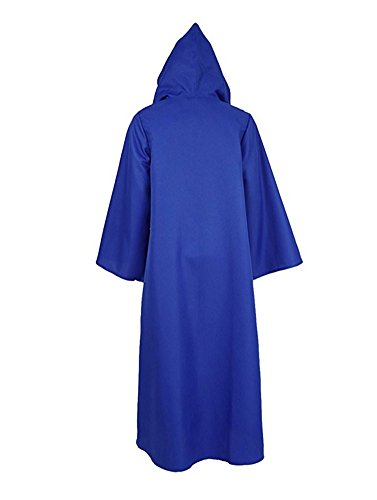 Tiny Time Herren Ritter Cosplay Kostüm Robe Bunt Halloween Mantel Outfit Blau