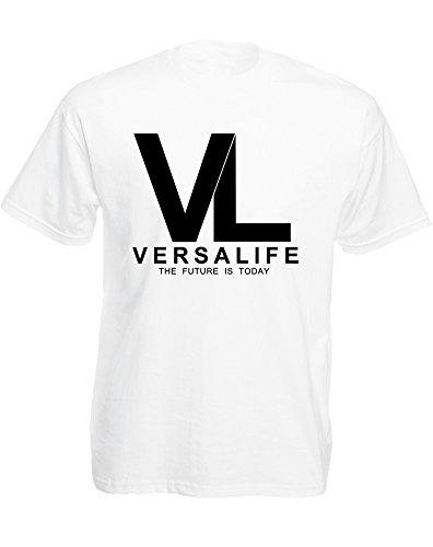 genetics-corporation-mann-gedruckt-t-shirt-weiss-schwarz-xl-111-116cm