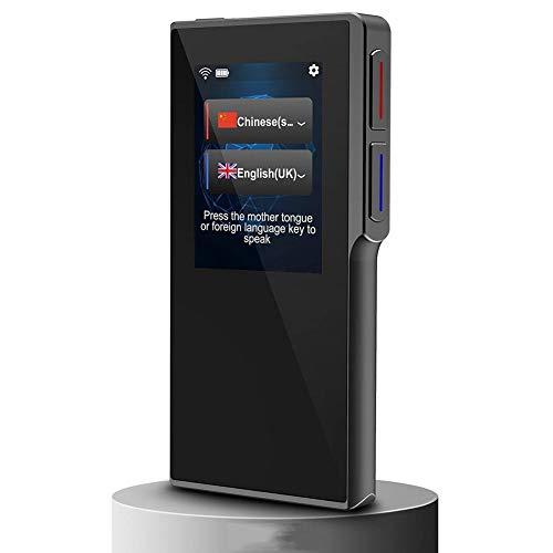 LXYFMS Intelligentes Sprachübersetzungsgerät, 2,4-Zoll-High-Definition-Touchscreen unterstützt 70 Sprachen Übersetzer