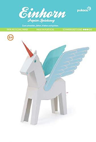Forum Traiani Einhorn Unicorn weiß Groß, Bastelbogen für Papiermodelle, Karton-Modellbau, Basteln mit Papier für Jungen und Mädchen