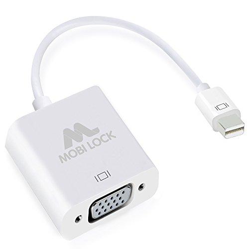 Mobi Lock Mini DisplayPort auf VGA Adapter-Kabel für Apple Unibody MacBook Pro/Air/iMac/Mini DisplayPort, unterstützt Video und den neuen Thunderbolt Port (FUNKTIONIERT NICHT mit iPhones oder iPads) (Mini-auf-vga Ipad Apple -)