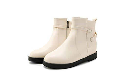 Chaussures Et Bottes Zq @ Qxmoda Avec Des Bottes Beige À Fond Plat