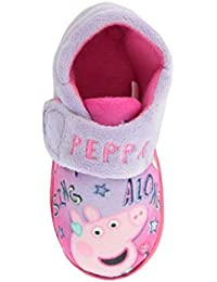 53ee6e6a52d19 Girls Nick Junior Peppa Pig Slippers Shoes Pink Lilac Children s Toddler  Size UK 5-10