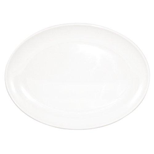 Assiettes creuses ovales en mélamine 225mm Kristallon Assiettes ovales blanches 225 x 158mm. Vendues par 12.