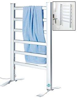 4030 Elektrischer Wäscheständer Handtuchhalter & Wäschewärmer Wandmontage oder freistehend 6 Heizrippen ALU