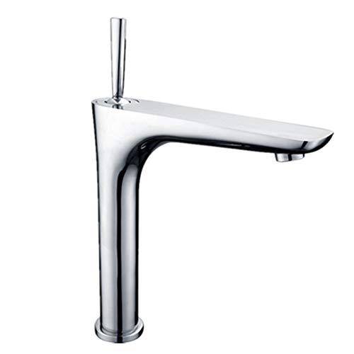 Wasserhahn TONGTONG SHOP Traditioneller Monoblock-Waschtischmischer Mit Hohem Becken Küchen-Badezimmer, Mono-Waschtischmischer Mit Einem Hebel (Size : H34cm)