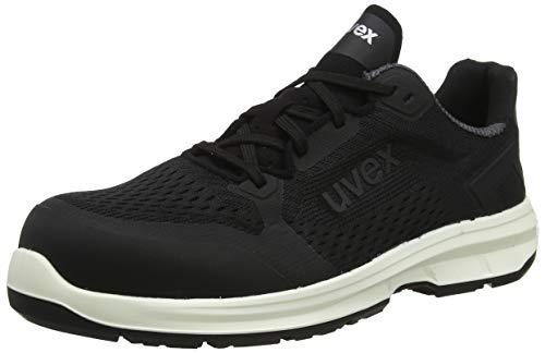 Uvex 1 Sport Scarpe da Lavoro Antinfortunistiche S1 SRC | Scarpa Antinfortunistica Bassa | Puntale Metal Free | Nero