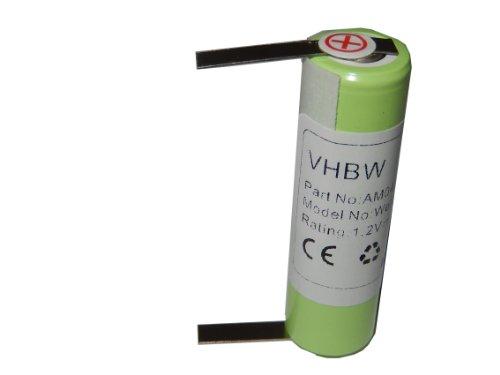 vhbw NiMH Akku 2000mAh (1.2V) für Haarschneider Wella Contura HS40 wie KR800 AAE, 1HR-AAC.