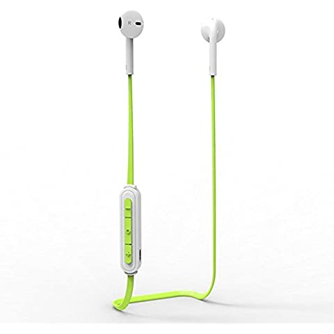 thanly Wireless Auricolari Sport Stereo Bluetooth V4.1Cuffie Studio Musica Auricolare Con Microfono Per Interni Ed Esterni Corsa e Passeggiate Esercizio indossare per iPhone iPod iPad Samsung LG