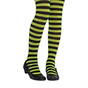 Amscan International Halloween niños medias a rayas (verde/negro) pequeño/mediano