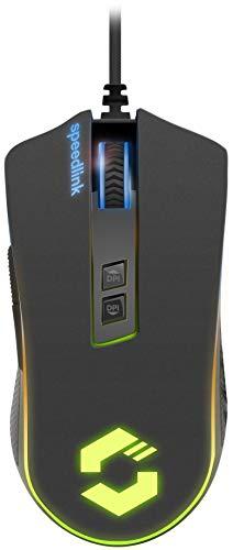 SpeedLink Orios RGB - Ratón de Gaming, Color Negro