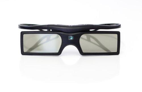 Gafas 3D Active Shutter 3D (funcionamiento de la batería) en negro para BLUETOOTH 3D TV / marca PRECORN