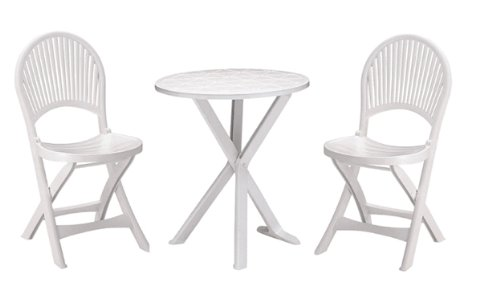 GrandSoleil - Set Brio (2sedie + 1 Table) Bianco