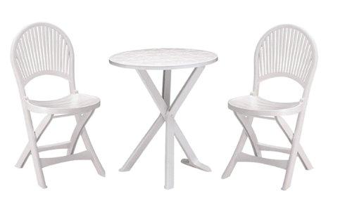 Brio 2sedie GrandSoleil Set TABLE (1) blanc