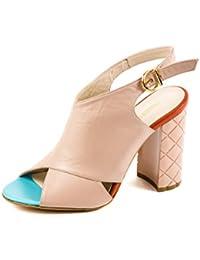 Fersengold - Zapatos de cordones de Piel Lisa para mujer Rosa rosa 37