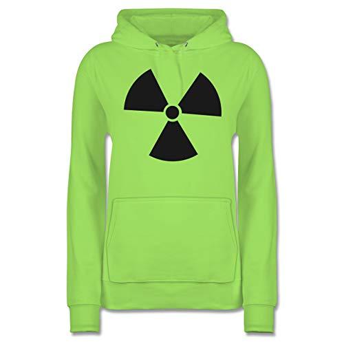 Shirtracer Karneval & Fasching - Biohzard Kostüm - XXL - Limonengrün - JH001F - Damen Hoodie (Nukleare Mann Kostüm)