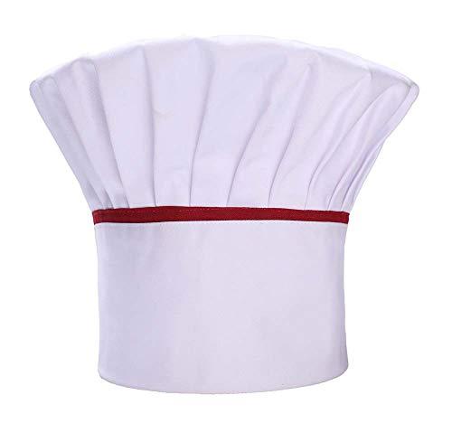 Black Temptation Erwachsener Berufspilzkappen-Küchen-Restaurant-Chef-Hut (weiß), K1