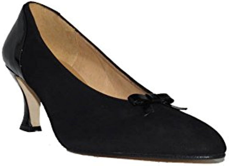 3 Suisses - Tacón CHAROLINA N.S.257435 Zapatos Tacón para Mujer Negros Elegantes en Piel