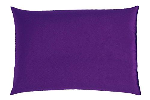 Couchkissen Sofakissen Kissen XXL Rückenpolster Loungekissen Bodenkissen 100x70 cm versch. Farben (lila)