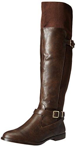 Bella Vita RomyII Rund Kunstleder Mode-Knie hoch Stiefel Brown/Brown