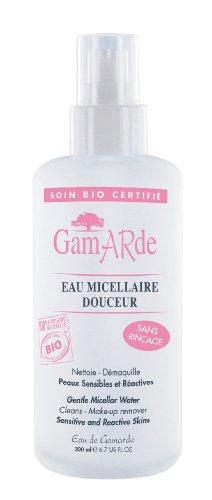 Gamarde - Eau micellaire Douceur Bio - Lotion nettoyante et démaquillante - Peaux sensibles et réactives - Flacon 200 ml