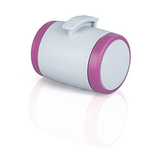 flexi Roll-Leinen-Zubehör Multi Box grau/pink (passend flexi Vario und New Classic ab Gr. S)