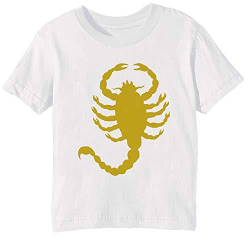 Erido Conducir Escorpión Niños Unisexo Niño Niña Camiseta Cuello Redondo Blanco Manga Corta Tamaño M Men's White T-Shirt Medium Size M