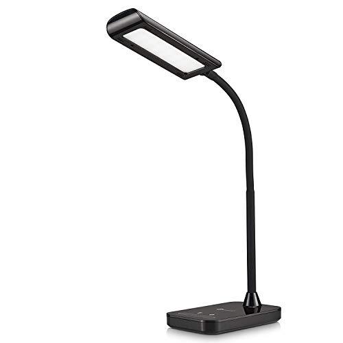 TaoTronics Schreibtischlampe LED TT-DL11 Flexible Schwanenhals Tischlampe 7W 5 Farbtemperaturen mit 7 Helligkeitsstufen Berührungssteuerung Speicherfunktion (Generalüberholt)