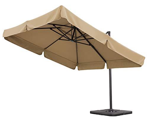 Sekey® Sonnenschirm - Gartenschirm - Terrassenschirm - Ampelschirm - Kurbelschirm