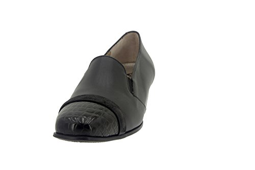 Komfort Damenlederschuh Piesanto 7106 schuhe bequem breit Negro