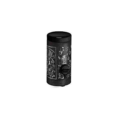 Meliconi Dosacaffé in lamiera litografata con coperchio nero Decoro Bistrot, conserva aroma caffè, adatto a tutte le Moka. Made in...