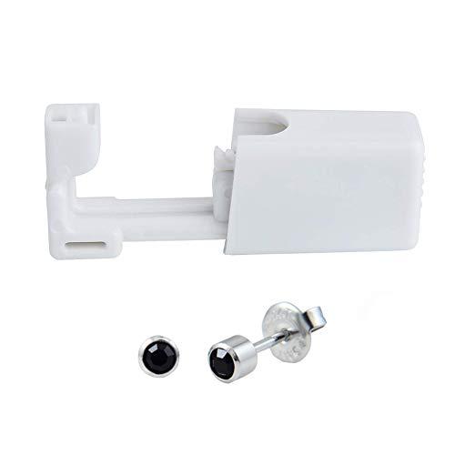 Xiton 2Set 4mm Sterile Ohr-Piercing Guns Einweg-Nasenring-Set Mit Ohr-Bolzen-Puncture-Gewehr Für Piercing Stahl Farbe Und Schwarz -